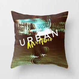 Urban Adventurer Throw Pillow