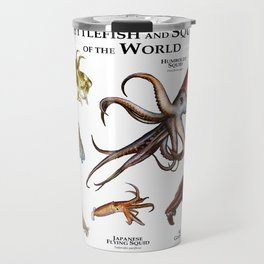 Cuttlefish and Squid of the World Travel Mug