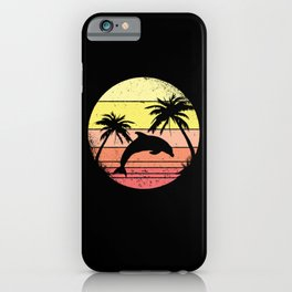 Dolphin Under Palm Trees iPhone Case