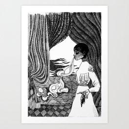 Ectoplasm: Inktober Illustration Art Print