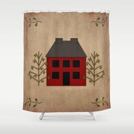 Primitive Country House Shower Curtain