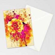 splash flowers Stationery Cards