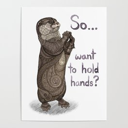 Otter Valentine Poster