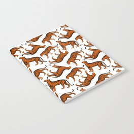 Tigers (White and Orange) Notebook