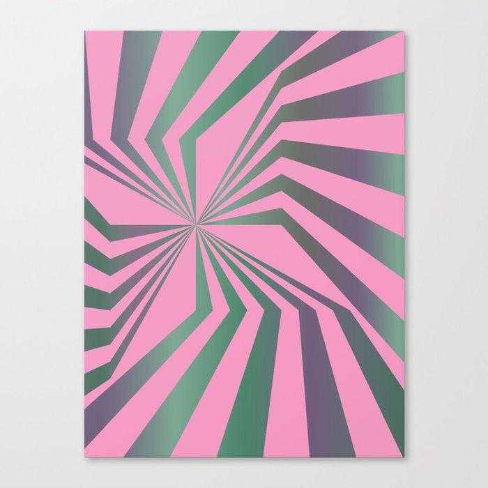 Broken Lines - Optical games Canvas Print