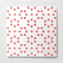 stars 50- red Metal Print