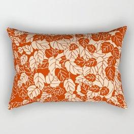 Japanese Leaf Print, Mandarin Orange Rectangular Pillow