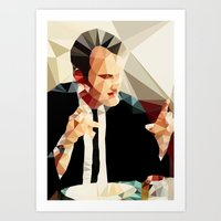 quentin tarantino Art Prints featuring Quentin Tarantino // Reservoir Dogs by VIVA LA GRAPH!