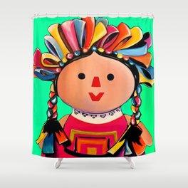 Mexican Maria Doll 3 Shower Curtain
