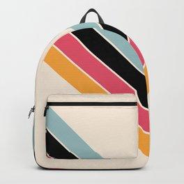 V Shape Colorful Classic Retro Stripes Halmang Backpack