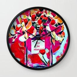 Perfume Pink Wall Clock