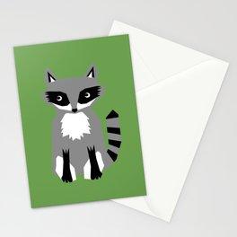 Raccoon cute animals print for kids room decor boys and girls nursery Stationery Cards