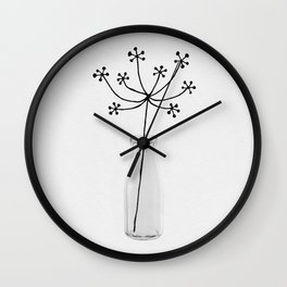 Flower Still Life I Wall Clock