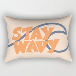 Stay Wavy Surf Type Rectangular Pillow