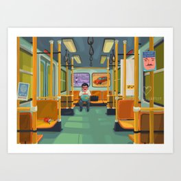 The last metro Art Print