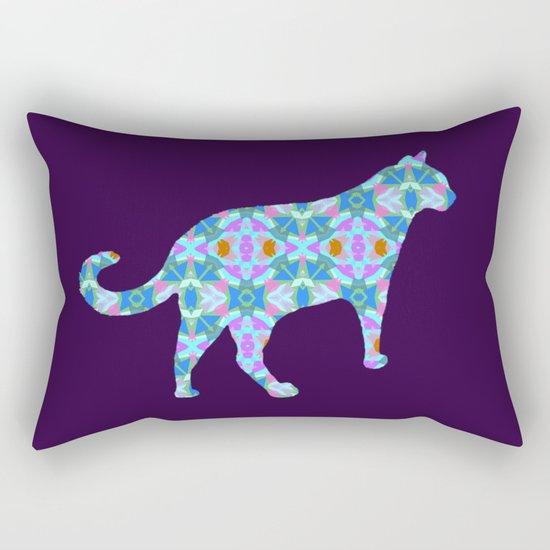 Colorful Cat Rectangular Pillow