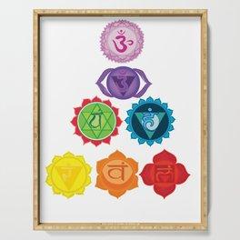 Seven Chakras Serving Tray