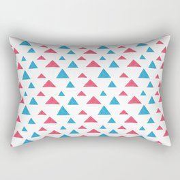 Tribal hand painted blue bright pink watercolor pattern Rectangular Pillow
