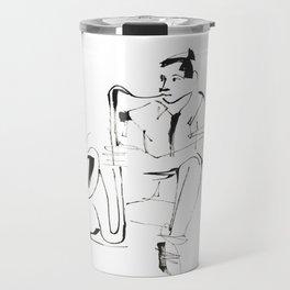 Saxophone Player Musician Travel Mug