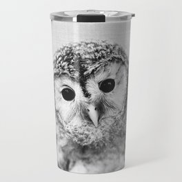 Baby Owl - Black & White Travel Mug