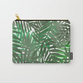 Tropical leaves : Green grey Carry-All Pouch