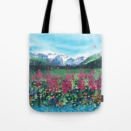 Fire in the Valley Tote Bag