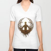 groot V-neck T-shirts featuring Groot Mandala by Megmcmuffins