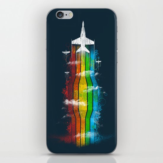 Colored Flight iPhone Skin