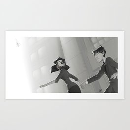Paperman: Let Fly Art Print