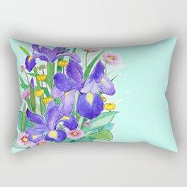 Iris Ikebana Rectangular Pillow