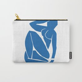Matisse Cut Out Figure #3 Light Blue Carry-All Pouch