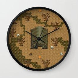 horror acampament Wall Clock
