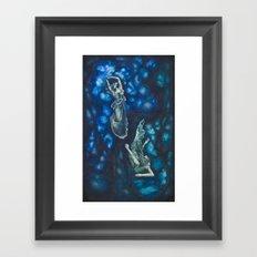 Composition in Blue Framed Art Print