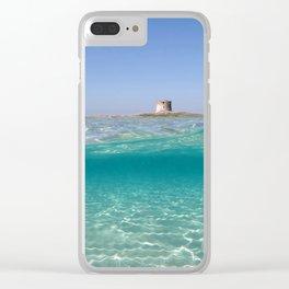 Sardinia, underwater Clear iPhone Case