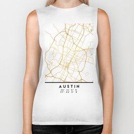 AUSTIN TEXAS CITY STREET MAP ART Biker Tank