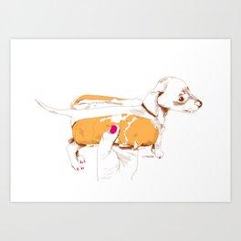 Chien Chaud Art Print