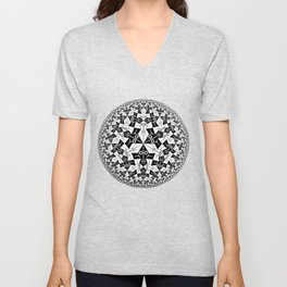 Escher Circle of Creatures Unisex V-Neck