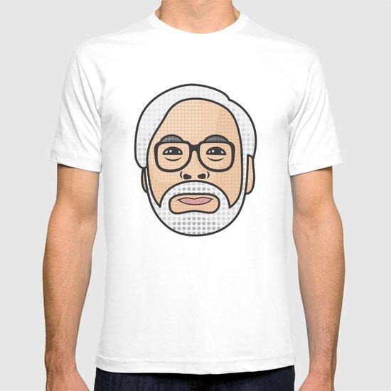 Hayao Miyazaki Portrait - White T-shirt