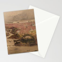 Vintage Pictorial Map of Philadelphia PA (1875) Stationery Cards