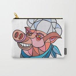 Pig Pork Baker Mosaic Color Carry-All Pouch