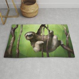 Sloth (Low Poly Lime) Rug