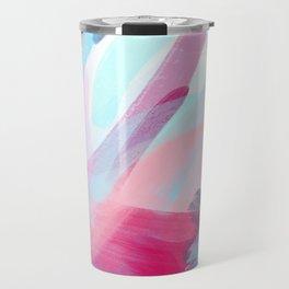 Pastel Abstract Brushstrokes Travel Mug