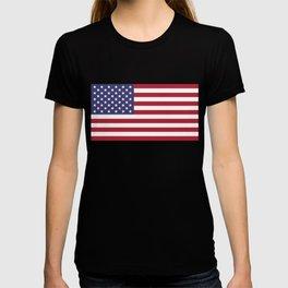 USA flag - Hi Def Authentic color & scale image T-shirt