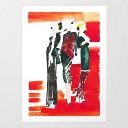 Red Three Art Print