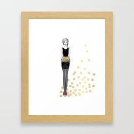 Golden Feathers Framed Art Print