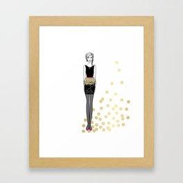 Golden Feathers Framed Art Print