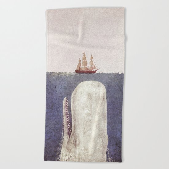 The Whale - exclusive purple variant  Beach Towel