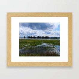 Yellowstone Lake At Pelican Creek Framed Art Print