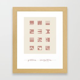 Pattern Recognition Abstracts Framed Art Print