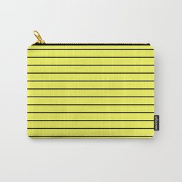 Black Lines On Yellow Carry-All Pouch